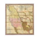 Mapa 1846 de Tejas Oregon California de un Mitchel Libreta Para Notas
