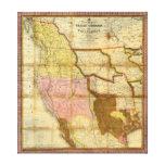 Mapa 1846 de Tejas Oregon California de un Mitchel Impresiones En Lienzo Estiradas