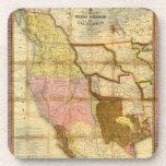 Mapa 1846 de Tejas Oregon California de un Mitchel Posavasos