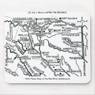 Mapa 1846 de Tejas Alfombrilla De Ratón
