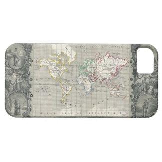 Mapa 1847 de Levasseur del vencedor del planisferi iPhone 5 Case-Mate Cobertura