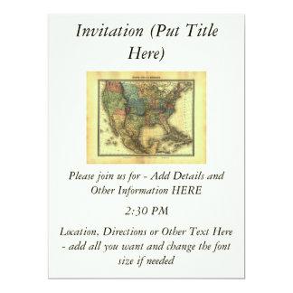 """Mapa 1848 de Thunot Duvotenay:  Etats-Unis y Invitación 6.5"""" X 8.75"""""""
