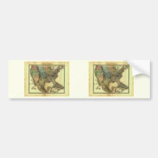 Mapa 1848 de Thunot Duvotenay:  Etats-Unis y Mexiq Etiqueta De Parachoque