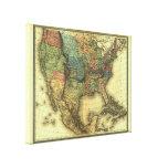 Mapa 1848 de Thunot Duvotenay:  Etats-Unis y Mexiq Lona Envuelta Para Galerias