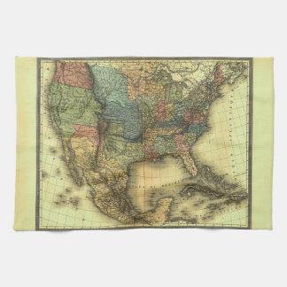 Mapa 1848 de Thunot Duvotenay:  Etats-Unis y Mexiq Toalla De Mano