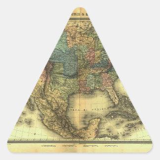 Mapa 1848 de Thunot Duvotenay:  Etats-Unis y Pegatina Triangular