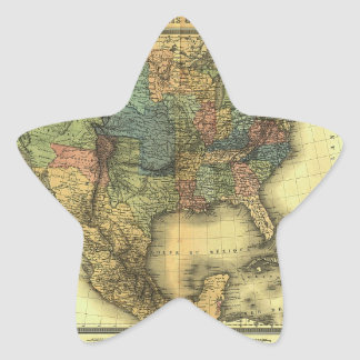 Mapa 1848 de Thunot Duvotenay:  Etats-Unis y Pegatina En Forma De Estrella