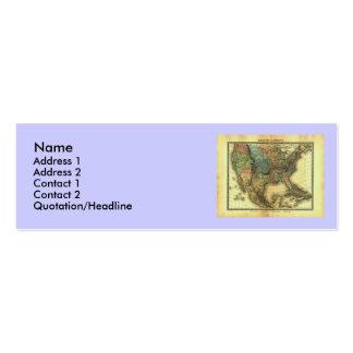 Mapa 1848 de Thunot Duvotenay:  Etats-Unis y Tarjetas De Visita Mini
