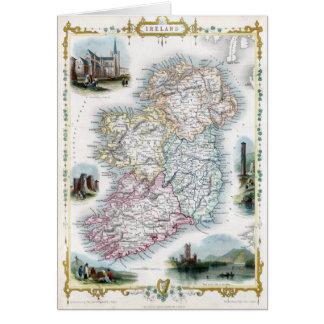Mapa 1851 de Irlanda Tarjeta De Felicitación
