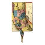 Mapa 1851 del estado de la región del oro de Calif Figuras Para Tartas