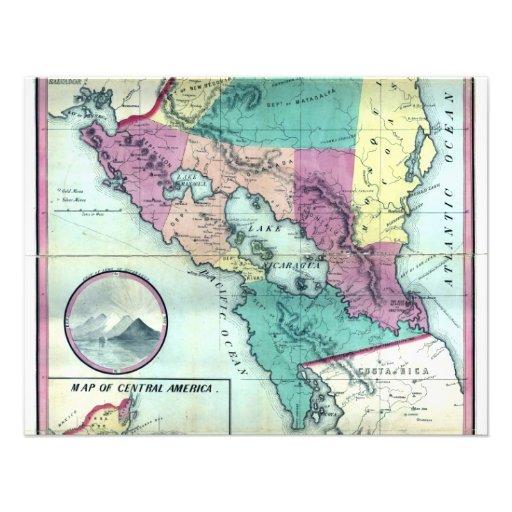 Mapa 1856 del gobierno de Nicaragua de A.H. Jocely Comunicados Personales