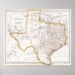 Mapa 1857 de Tejas Impresiones