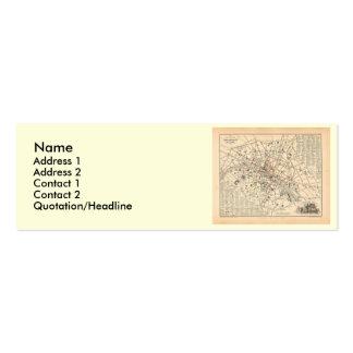 Mapa 1858: Dans París Francia del Omnibus del DES  Tarjetas De Negocios