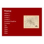 Mapa 1858: Dans París Francia del Omnibus del DES  Tarjeta Personal