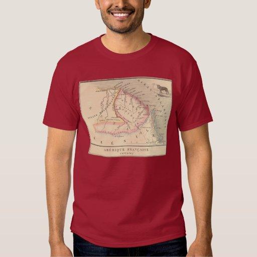 Mapa 1858 de Amerique Francaise (Guyane), Guyana Remeras