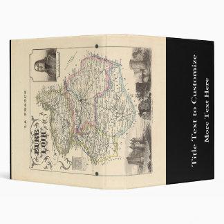"""Mapa 1858 de Eure y del departamento de Loir, Carpeta 1"""""""