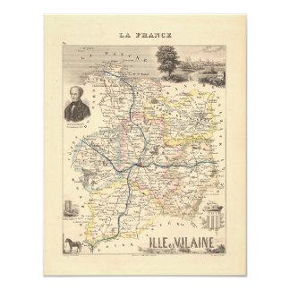 Mapa 1858 del departamento de Ille y de Vilaine, Anuncios Personalizados