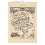 Mapa 1858 del departamento de Indre y del Loira, Tarjeta De Felicitación
