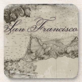 Mapa 1859 de San Francisco Bay Posavasos