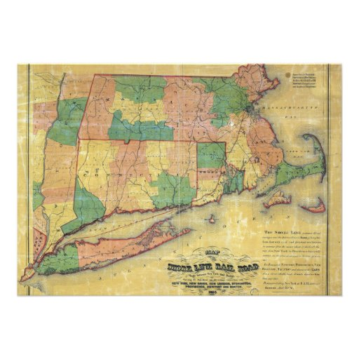 mapa 1860 de la línea ferrocarril de la orilla comunicados personales