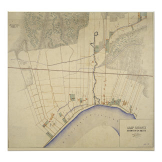Mapa 1863-64 de Luisiana del parapeto del campo Póster