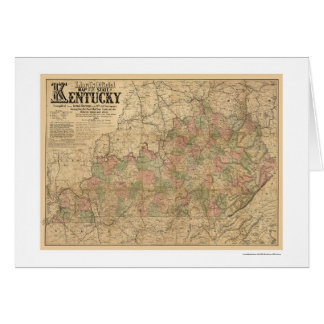 Mapa 1863 del ferrocarril de Kentucky Tarjeta De Felicitación