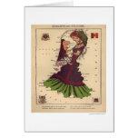 Mapa 1868 de la caricatura de Holanda y de Bélgica Tarjeta De Felicitación