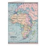 Mapa 1870 del vintage de África Felicitaciones