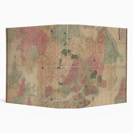 "Mapa 1872 - New York City de Brooklyn del vintage, Carpeta 2"""