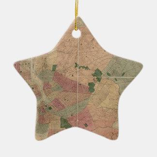 Mapa 1872 - New York City de Brooklyn del vintage, Adorno