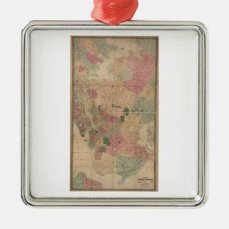 Mapa 1872 - New York City de Brooklyn del vintage, Ornamentos Para Reyes Magos