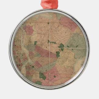 Mapa 1872 - New York City de Brooklyn del vintage, Ornamento Para Reyes Magos