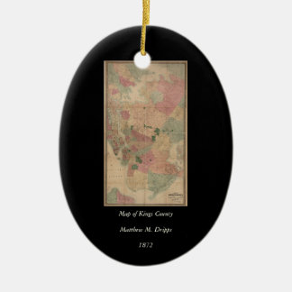 Mapa 1872 - New York City de Brooklyn del vintage, Ornamentos De Reyes Magos