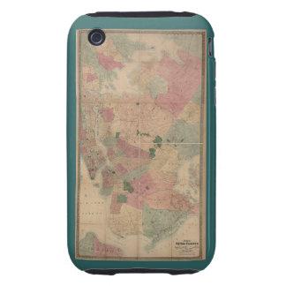 Mapa 1872 - New York City de Brooklyn del vintage, Funda Resistente Para iPhone 3