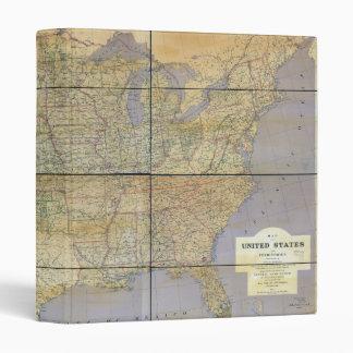 """Mapa 1873 de los Estados Unidos de América Carpeta 1"""""""