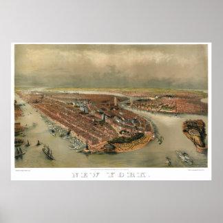 MAPA 1874 DE NUEVA YORK POSTERS