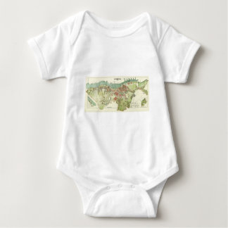 Mapa 1888 de Gothenburg Suecia de Ludvig Simon T-shirt