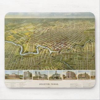 Mapa 1891 de Houston Alfombrilla De Ratón
