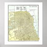 Mapa 1891 de San Francisco - poster
