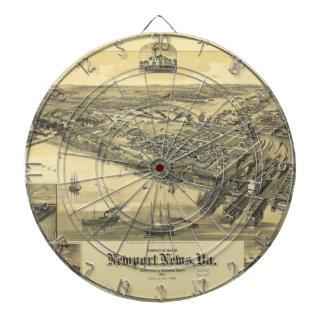 Mapa 1891 del condado de Virginia Warwick de las n