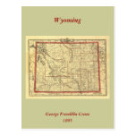 Mapa 1895 de Wyoming Postales