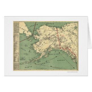 Mapa 1897 de los campos del oro de Alaska Tarjeta De Felicitación