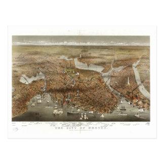 Mapa 1898 de Boston Postales