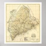 Mapa 1899 del ferrocarril de Maine Impresiones