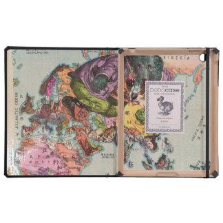 Mapa 1900 de la visión mundial iPad carcasas