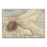 Mapa 1900 de New Orleans Impresiones