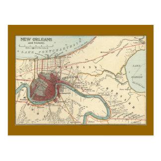 Mapa 1900 de New Orleans Postal
