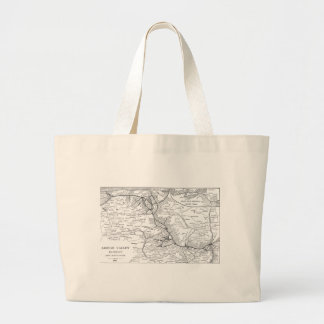 Mapa 1903 del ferrocarril del valle de Lehigh Bolsas Lienzo