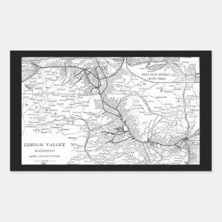 Mapa 1903 del ferrocarril del valle de Lehigh Rectangular Altavoz