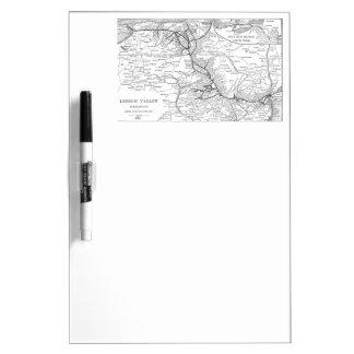 Mapa 1903 del ferrocarril del valle de Lehigh Tableros Blancos